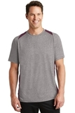 Heather Colorblock Contender Tee Vintage Heather with Maroon Thumbnail