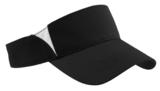 Dry Zone Colorblock Visor Black with White Thumbnail