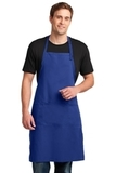 Easy Care Extra Long Bib Apron With Stain Release Royal Thumbnail