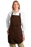 Full Length Apron With Pockets Coffee Bean Thumbnail