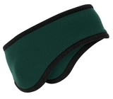 Two-color Fleece Headband Dark Green Thumbnail