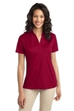 Port Authority Ladies Silk Touch Performance Polo Red Thumbnail