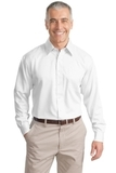 Tall Long Sleeve Non-iron Twill Shirt White Thumbnail