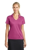 Women's Nike Golf Dri-FIT Vertical Mesh Polo Pink Fire Thumbnail