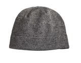 Heathered Knit Beanie Grey Heather with Black Thumbnail