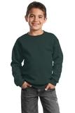 Youth Crewneck Sweatshirt Dark Green Thumbnail