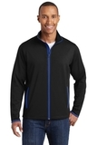 Sport-Wick Stretch Contrast Full-Zip Jacket Black with True Royal Thumbnail