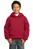 Youth Pullover Hooded Sweatshirt Red Thumbnail