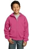 Youth Full-zip Hooded Sweatshirt Sangria Thumbnail