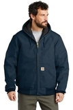 Carhartt Quilted-Flannel-Lined Duck Active Jac Dark Navy Thumbnail