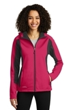 Women's Eddie Bauer Trail Soft Shell Jacket Pink Lotus with Grey Steel Thumbnail