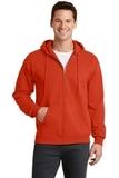 7.8-oz Full-zip Hooded Sweatshirt Orange Thumbnail