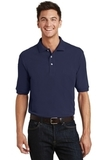 Pique Knit Polo Shirt With Pocket Navy Thumbnail