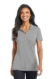 Women's Cotton Touch Performance Polo Frost Grey Thumbnail
