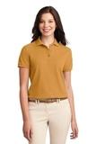 Women's Silk Touch Polo Shirt Gold Thumbnail