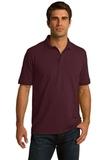 Port Company Tall 5.5-ounce Jersey Knit Polo Athletic Maroon Thumbnail