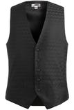 Men's Swirl Brocade Vest Black Thumbnail
