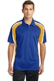 Tricolor Micropique Color Block Polo True Royal with Gold and White Thumbnail