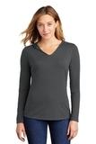 Women's Perfect Tri-Long Sleeve Hoodie Charcoal Thumbnail