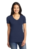 Women's Concept Stretch V-neck Tee Dress Blue Navy Thumbnail