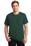 Moisture Management 50/50 Cotton / Poly Pocket T-shirt Forest Green Thumbnail