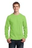 Long Sleeve 5.4-oz. 100 Cotton T-shirt Lime Thumbnail