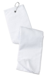 Grommeted Tri-fold Golf Towel White Thumbnail