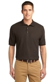 Extended Size Silk Touch Polo Shirt Coffee Bean Thumbnail