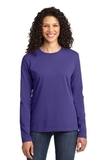 Women's Long Sleeve 5.4-oz 100 Cotton T-shirt Purple Thumbnail