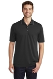 Dry Zone UV MicroMesh Tipped Polo Deep Black with Graphite Thumbnail
