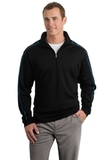 Nike Golf Dri-Fit Contrast Stitch 1/2-Zip Cover-Up Black with Blue Spark Thumbnail