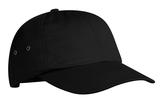 Fashion Twill Cap With Metal Eyelets Black Thumbnail