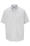 Men's Dress Button Down Oxford SS Light Grey Thumbnail