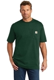 Carhartt Tall Workwear Pocket Short Sleeve T-Shirt Hunter Green Thumbnail