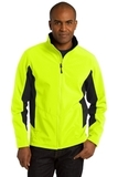Corevalue Colorblock Soft Shell Jacket Safety Yellow with Black Thumbnail