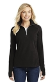 Women's Microfleece 1/2-zip Pullover Black Thumbnail