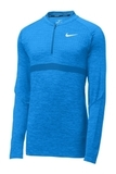 Nike Men's Half-Zip Golf Top Blue Nebula with Gym Blue Thumbnail