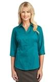 Women's 3/4-sleeve Blouse Teal Green Thumbnail