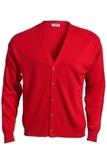 Men's No-pocket Cardigan Red Thumbnail