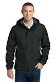 Eddie Bauer Rain Jacket Black with Steel Grey Thumbnail