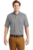 Spotshield Jersey Knit Polo With Pocket Oxford Thumbnail