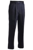 Women's Pleated 100 Cotton Pant Navy Thumbnail