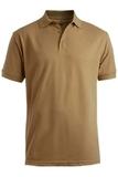 Men's Short Sleeve Soft Touch Blended Pique Polo Tan Thumbnail