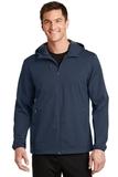 Active Hooded Soft Shell Jacket Dress Blue Navy Thumbnail