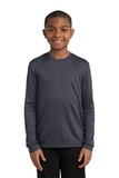Youth Long Sleeve Competitor Tee Iron Grey Thumbnail