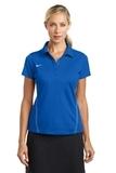 Women's Nike Golf Shirt Dri-FIT Sport Swoosh Pique Polo Blue Sapphire Thumbnail