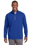 Sport-Wick Textured 1/4-Zip Pullover True Royal Thumbnail