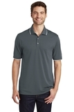 Dry Zone UV MicroMesh Tipped Polo Graphite with White Thumbnail