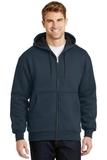 Heavyweight Full-zip Hooded Sweatshirt With Thermal Lining Navy Thumbnail