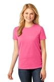 Women's 5.4-oz 100 Cotton T-shirt Neon Pink Thumbnail